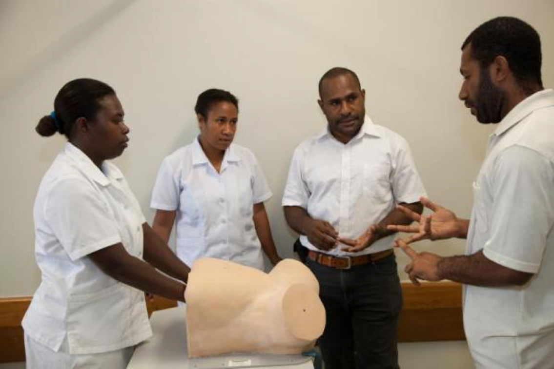 Midwives training at Pacific Adventist University PAU, outskirts of Port Moresby, PNG