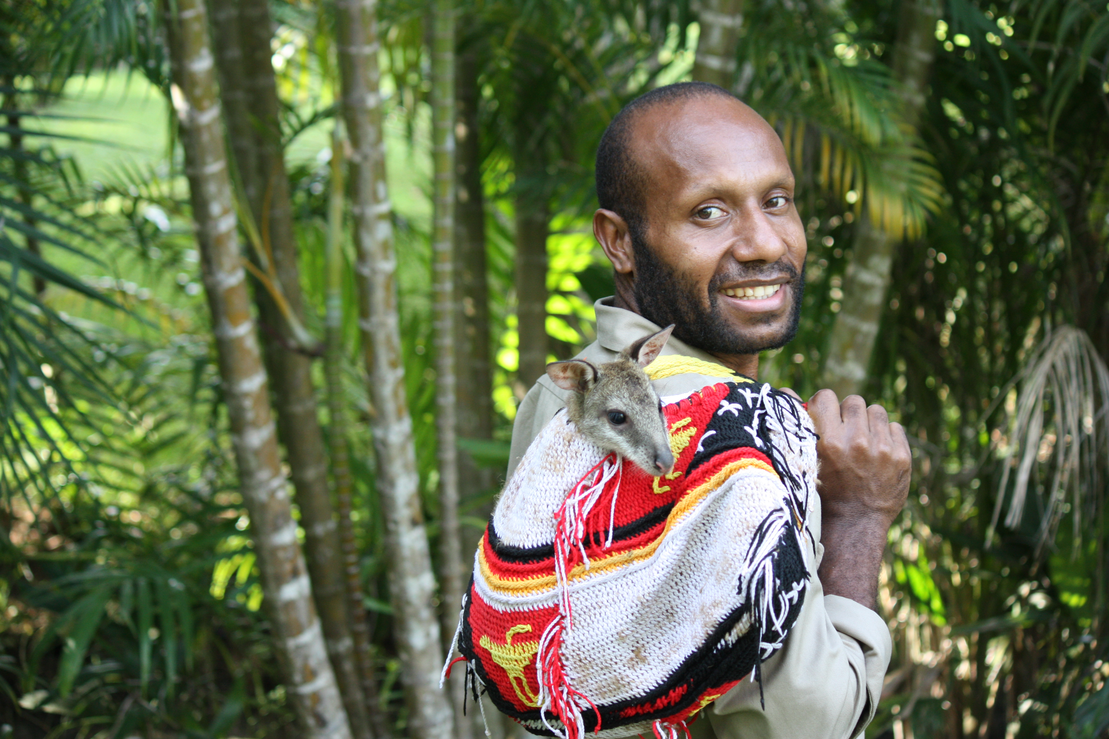 Photograph of Ishimu Bebe with Agile Wallaby